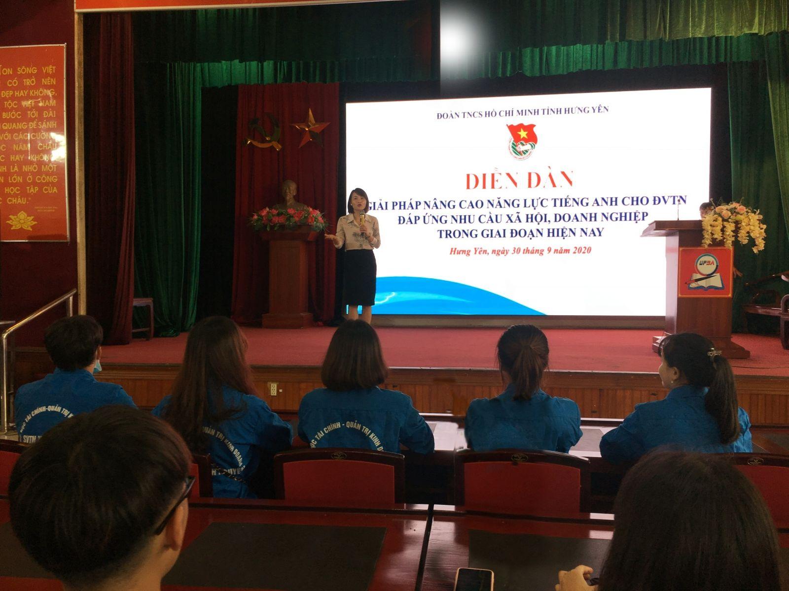 Tỉnh đoàn tổ chức Diễn đàn Giải pháp nâng cao năng lực Tiếng Anh cho đoàn viên, học sinh, sinh viên