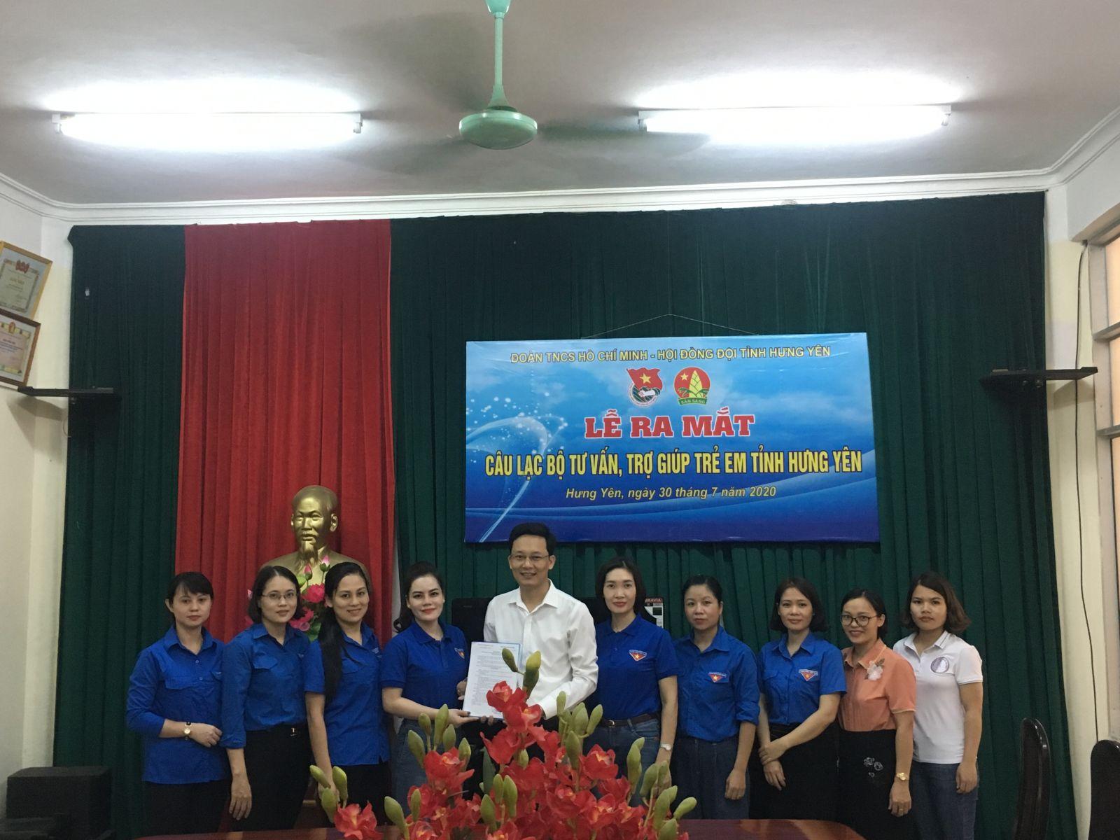 Hưng Yên: Ra mắt Câu lạc bộ Tư vấn, trợ giúp trẻ em