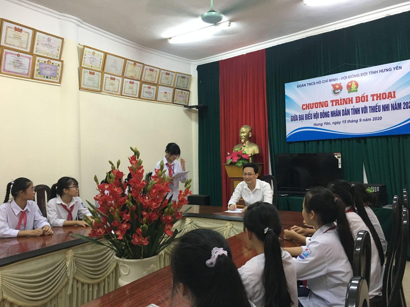 Chương trình đối thoại giữa Đại biểu HĐND tỉnh Hưng Yên với thiếu nhi năm 2020