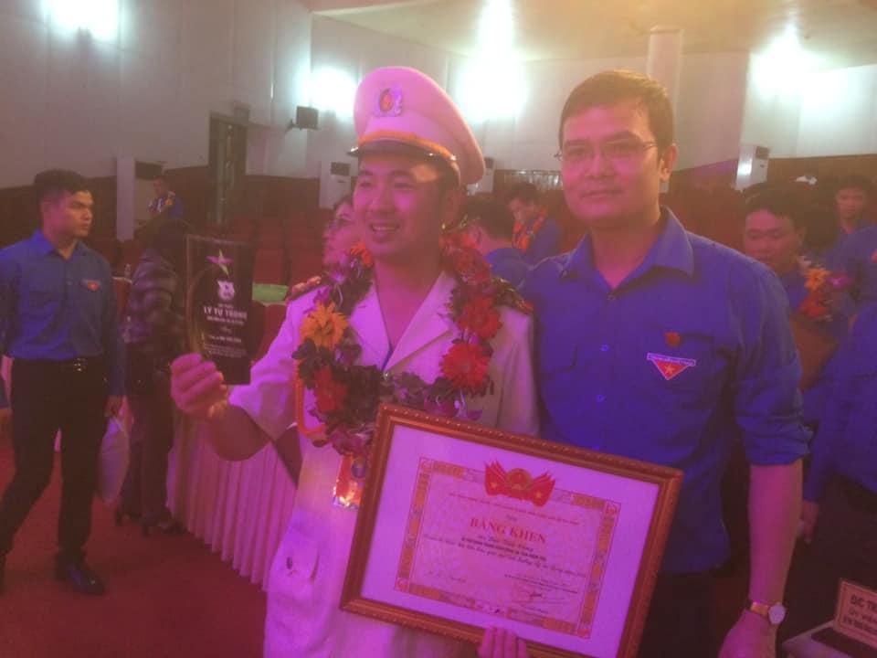 Bí thư Đoàn thanh niên Công an tỉnh được trao Giải thưởng Lý Tự Trọng