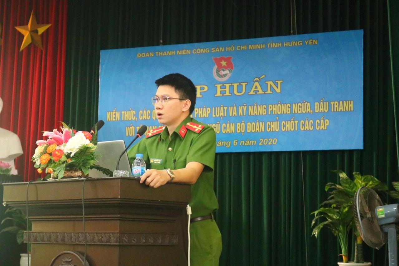 Hội nghị tập huấn kiến thức, các quy định của pháp luật; kỹ năng phòng ngừa đấu tranh với tệ nạn ma túy tỉnh Hưng Yên năm 2020