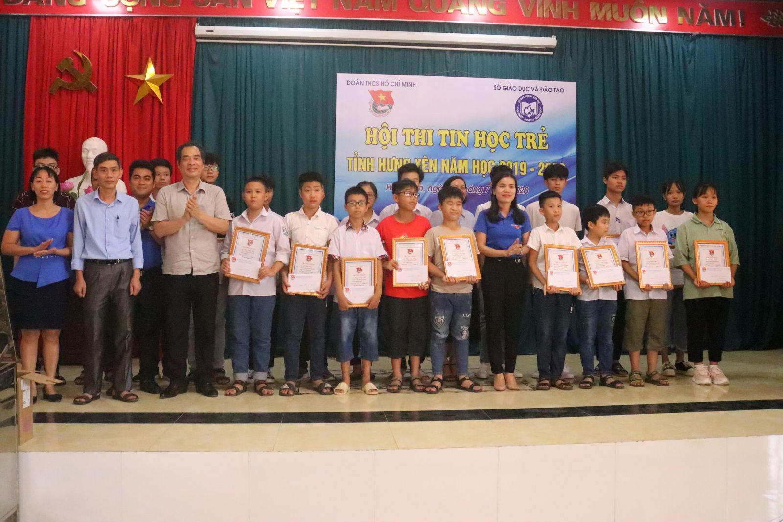 Tỉnh đoàn – Sở Giáo dục & đào tạo tỉnh Tổ chức Hội thi Tin học trẻ tỉnh Hưng Yên năm học 2019 – 2020