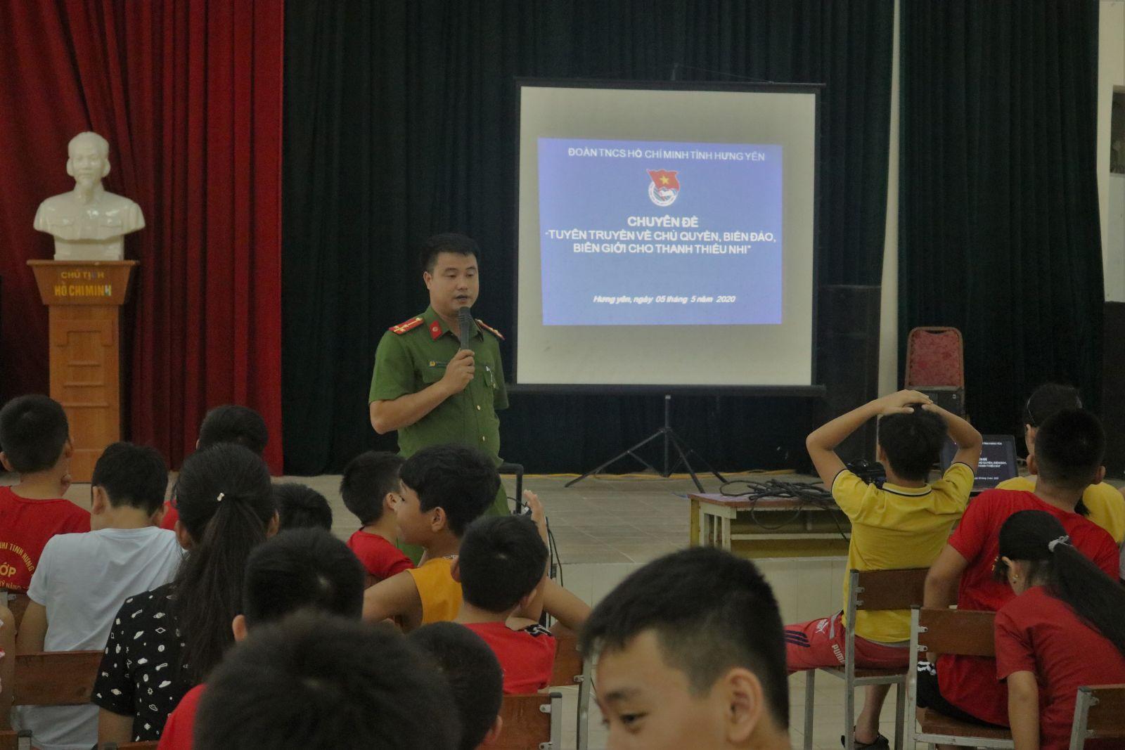 Tỉnh đoàn tổ chức tuyên truyền về chủ quyền biển đảo, biên giới đất liền cho thanh thiếu nhi năm 2020