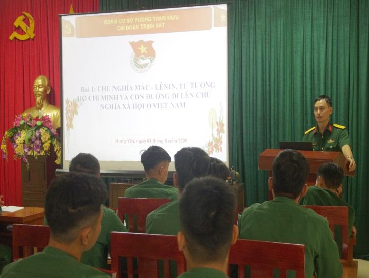 Đoàn TN Bộ CHQS tỉnh tổ chức Hội nghị học tập 4 bài học lý luận chính trị (sửa đổi)