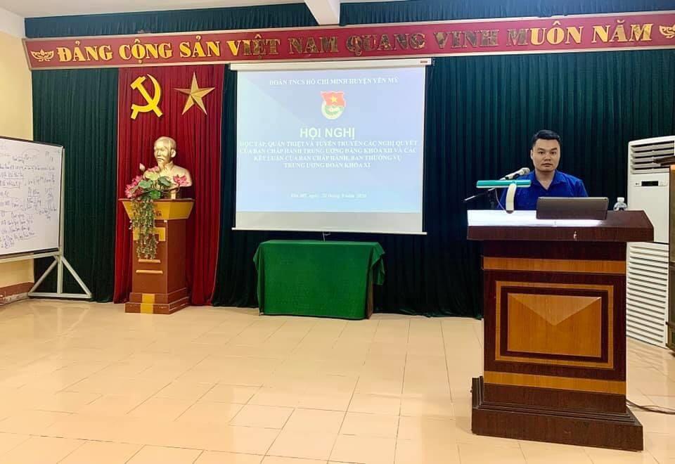 Huyện đoàn Yên Mỹ triển khai 02 chuyên đề học tập và làm theo tư tưởng, đạo đức, phong cách Hồ Chí Minh năm 2020.