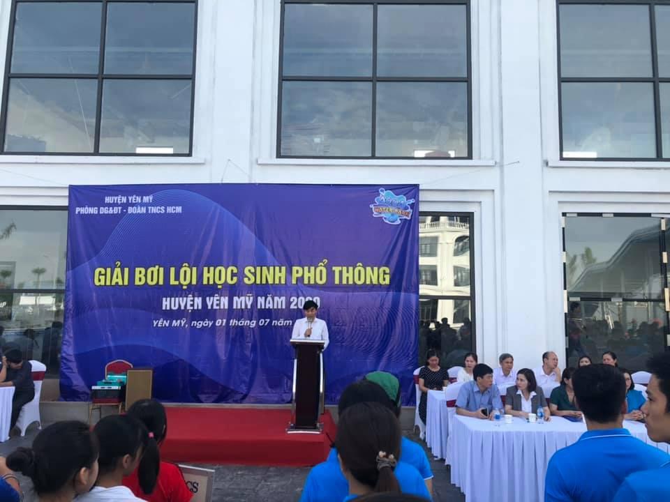 Huyện Đoàn Yên Mỹ tổ chức Giải bơi lội Học sinh Phổ thông cho  thanh thiếu nhi năm 2020