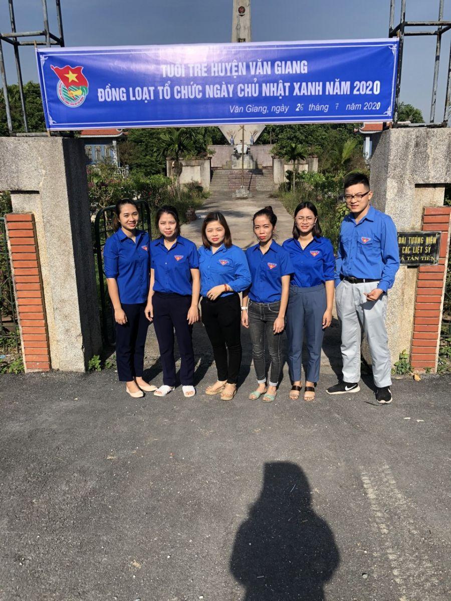 Huyện đoàn Văn Giang tổ chức Ngày Chủ nhật xanh lần 2 năm 2020
