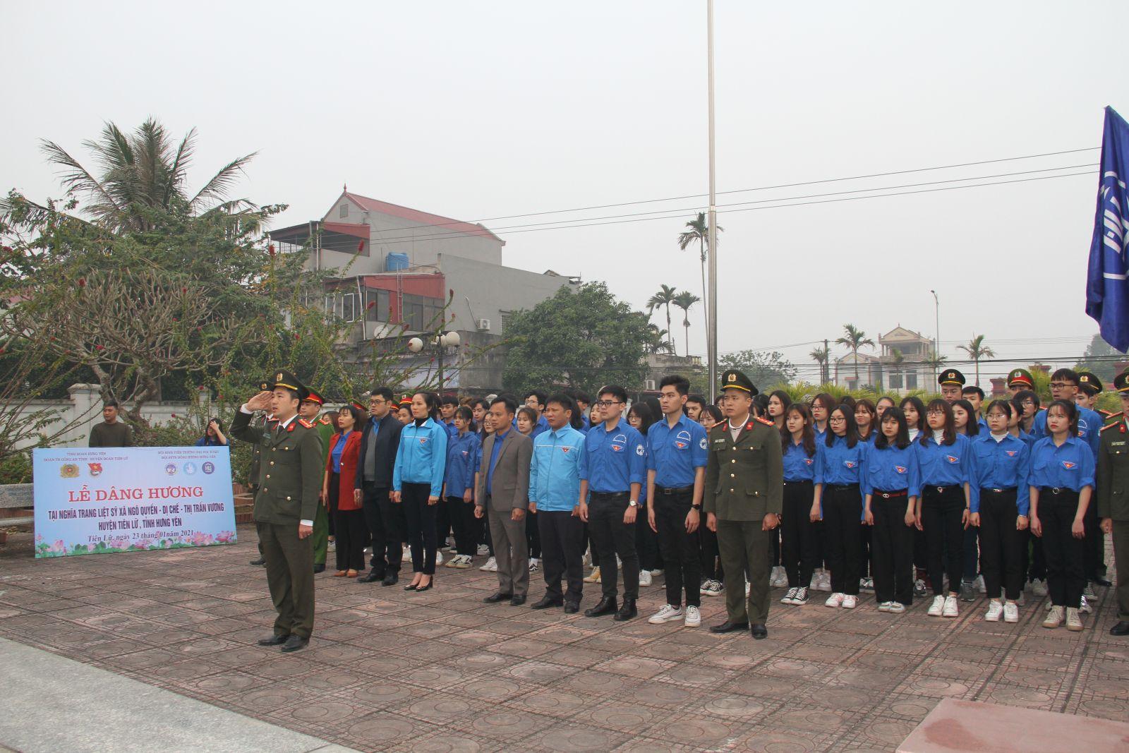 Đoàn thanh niên Công an tỉnh phối hợp tổ chức chuỗi các hoạt động  Tết yêu thương năm 2021 tại xã Ngô Quyền, huyện Tiên Lữ