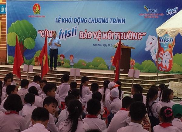 """Hội đồng Đội tỉnh Hưng Yên: Khởi động Chương trình """"Cùng Fristi bảo vệ môi trường"""" năm 2019"""