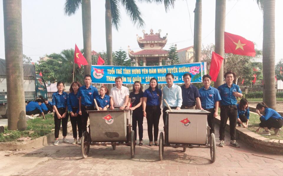 Ra mắt Tổ hợp tác thanh niên bảo vệ môi trường và khánh thành đoạn đường Thanh niên tự quản Sáng - Xanh - Sạch - Đẹp tại xã Minh Hải
