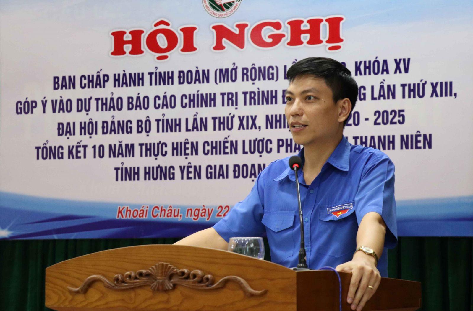 Tổng kết 10 năm thực hiện Chiến lược phát triển thanh niên tỉnh Hưng Yên giai đoạn 2011 - 2020