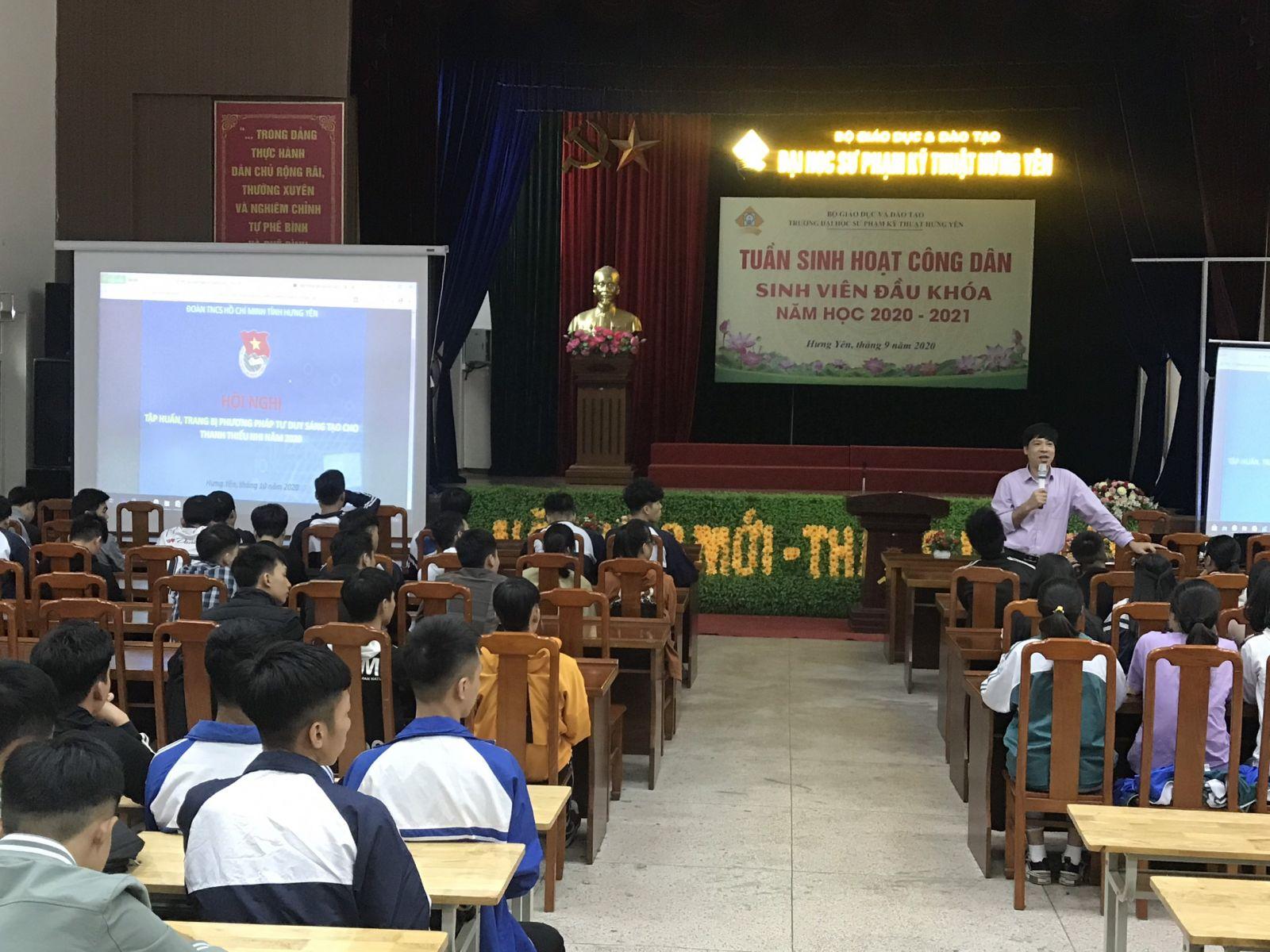 Ban Thường vụ Tỉnh đoàn tổ chức Hội nghị tập huấn, trang bị phương pháp tư duy sáng tạo cho thanh thiếu nhi năm 2020