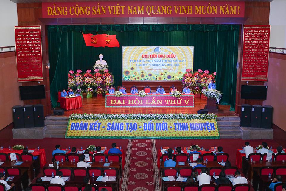 Đại hội đại biểu Hội Liên hiệp thanh niên Việt Nam  thị xã Mỹ Hào lần thứ V, nhiệm kỳ 2019 - 2024 được tổ chức thành công tốt đẹp