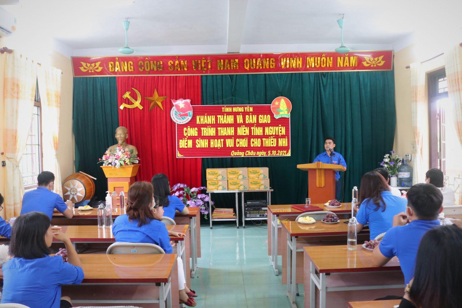 Tỉnh đoàn, Hội đồng Đội tỉnh khánh thành điểm vui chơi cho thiếu nhi Trường mầm non Quảng Châu – Thành phố Hưng Yên