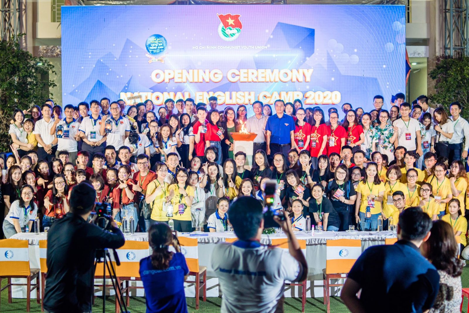 Đại biểu thanh niên Hưng Yên tham dự Hội trại Tiếng Anh toàn quốc năm 2020.