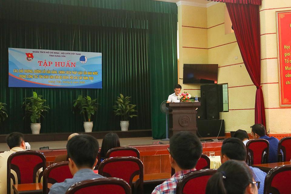 Ban Thường vụ Tỉnh đoàn, Hội LHTN Việt Nam tỉnh tổ chức tập huấn các chủ trương, đường lối của Đảng, chính sách pháp luật của nhà nước trong công tác tôn giáo cho cán bộ Đoàn, Hội các cấp năm 2020