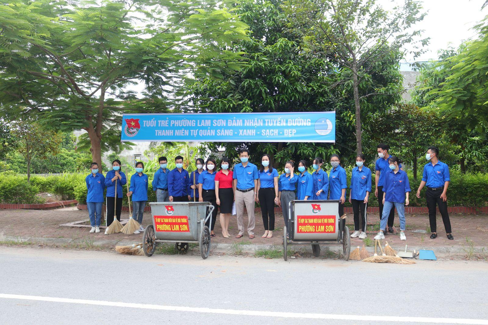Ra mắt Tổ hợp tác thanh niên bảo vệ môi trường phường Lam Sơn