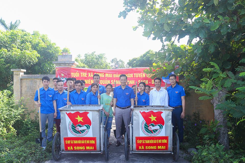 Ra mắt Tổ hợp tác thanh niên bảo vệ môi trường xã Song Mai