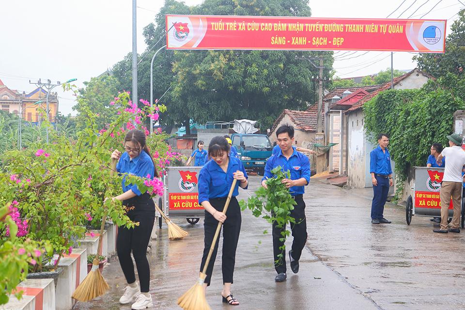 Ra mắt Tổ hợp tác thanh niên bảo vệ môi trường xã Cửu Cao