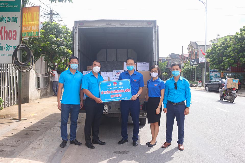 Tuổi trẻ tỉnh Hưng Yên hỗ trợ tỉnh Hải Dương phòng, chống  dịch bệnh Covid-19