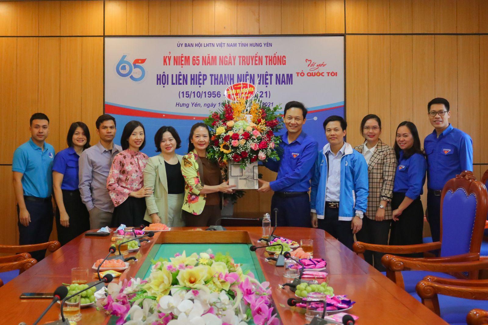 Hội Liên hiệp thanh niên Việt Nam tỉnh kỷ niệm 65 năm  Ngày truyền thống Hội LHTN Việt Nam