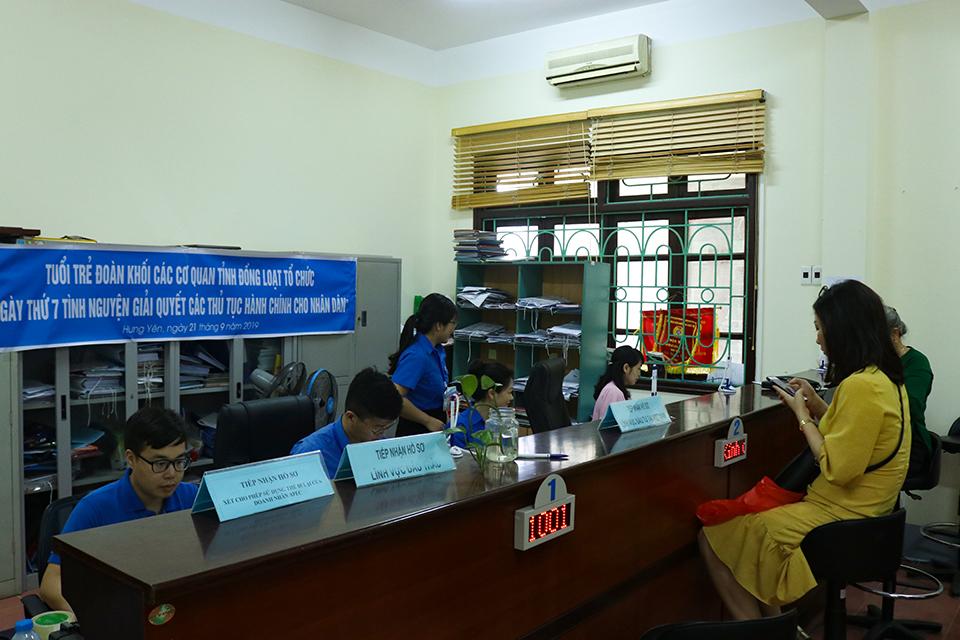 Ban Thường vụ Tỉnh đoàn chỉ đạo ra quân Ngày thứ bẩy tình nguyện giải quyết các thủ tục hành chính cho các đoàn viên, thanh niên Doanh nghiệp