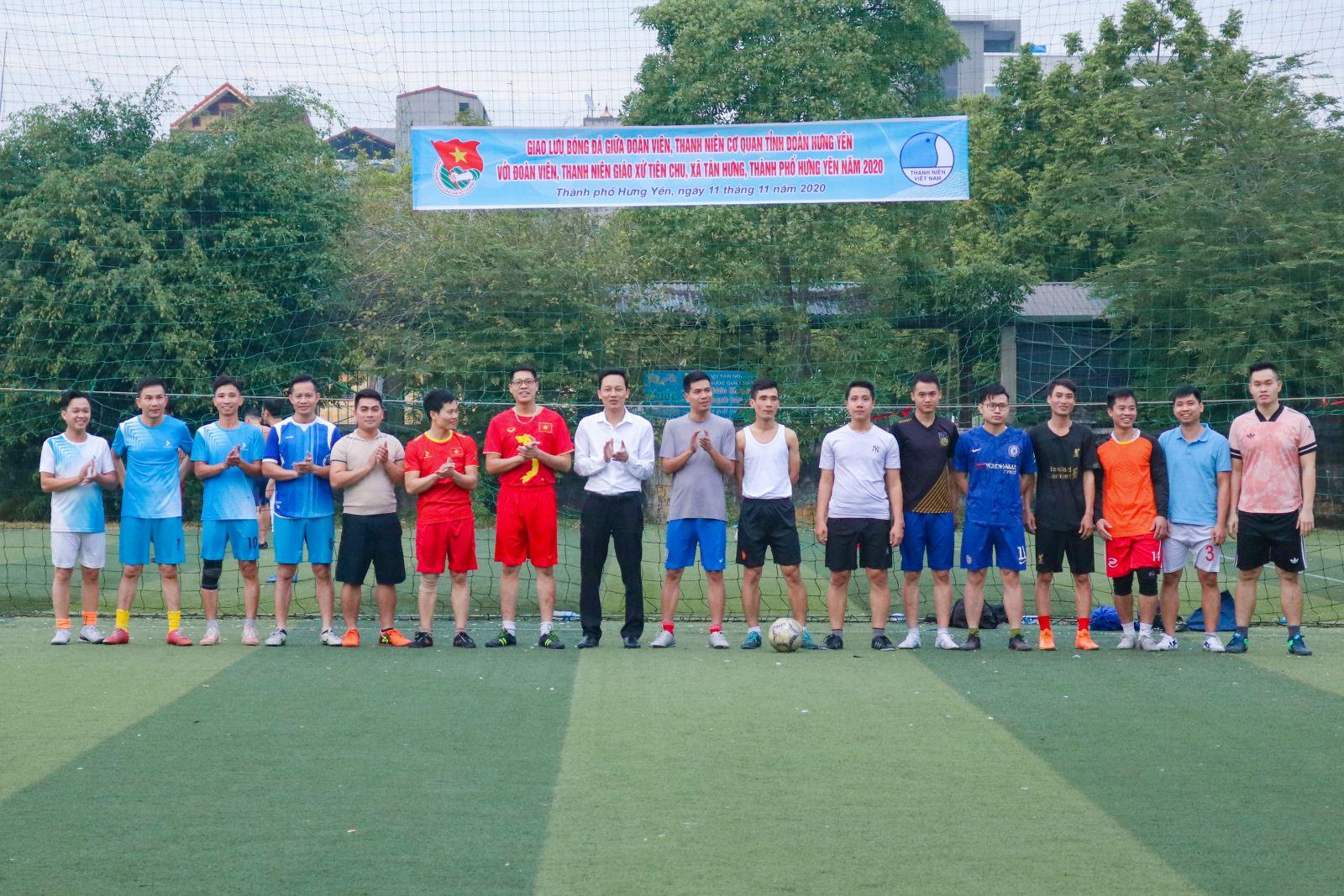 Ban Thường vụ Tỉnh đoàn, Hội LHTN Việt Nam tỉnh tổ chức giao lưu bóng đá nam giữa ĐVTN Chi đoàn cơ quan Tỉnh đoàn và ĐVTN giáo xứ Tiên Chu