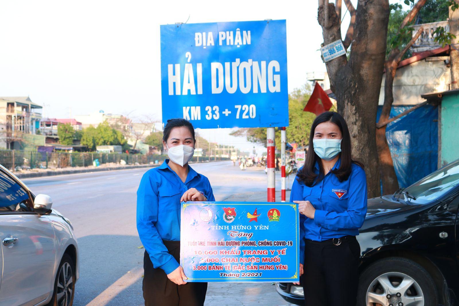 Tuổi trẻ tỉnh Hưng Yên chung tay hỗ trợ Tuổi trẻ tỉnh Hải Dương phòng, chống dịch bệnh Covid-19