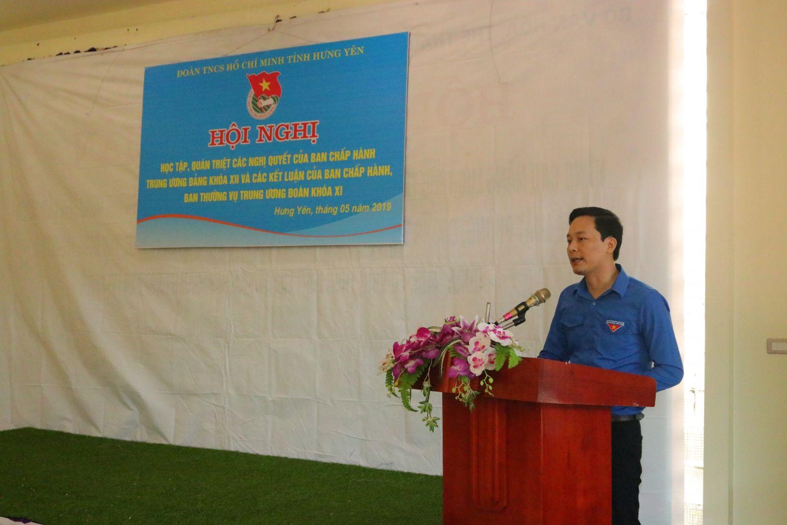 Hội nghị học tập, quán triệt các Nghị quyết của BCH Trung ương Đảng khóa XII và các Kết luận của Ban Chấp hành, Ban Thường vụ Trung ương Đoàn khóa XI