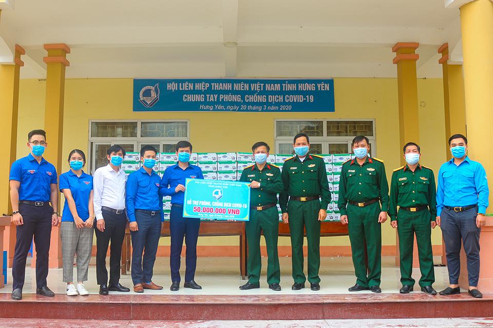 Hội Liên hiệp thanh niên Việt Nam tỉnh Hưng Yên  hỗ trợ phòng, chống dịch Covid-19