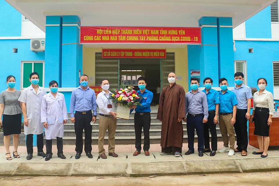 Hội Liên hiệp thanh niên Việt Nam tỉnh phối hợp với Chư tăng, đạo tràng chùa Cổ Am tổ chức hỗ trợ phòng, chống dịch bệnh Covid-19