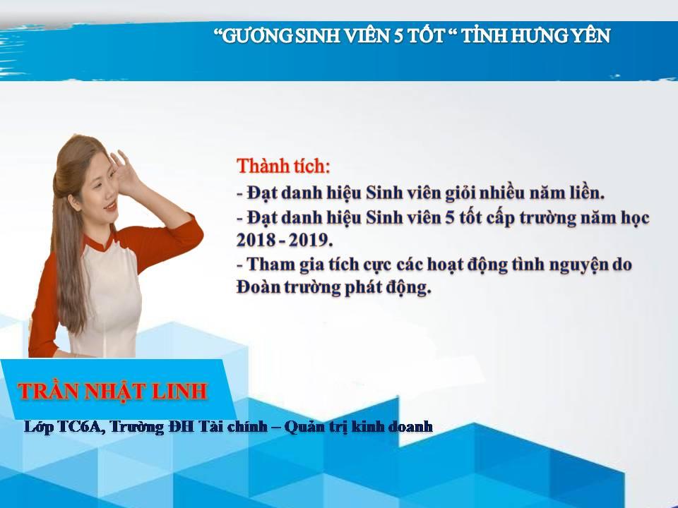Gương sinh viên 5 tốt Trần Nhật Linh - Trường ĐH Tài chính - Quản trị Kinh doanh