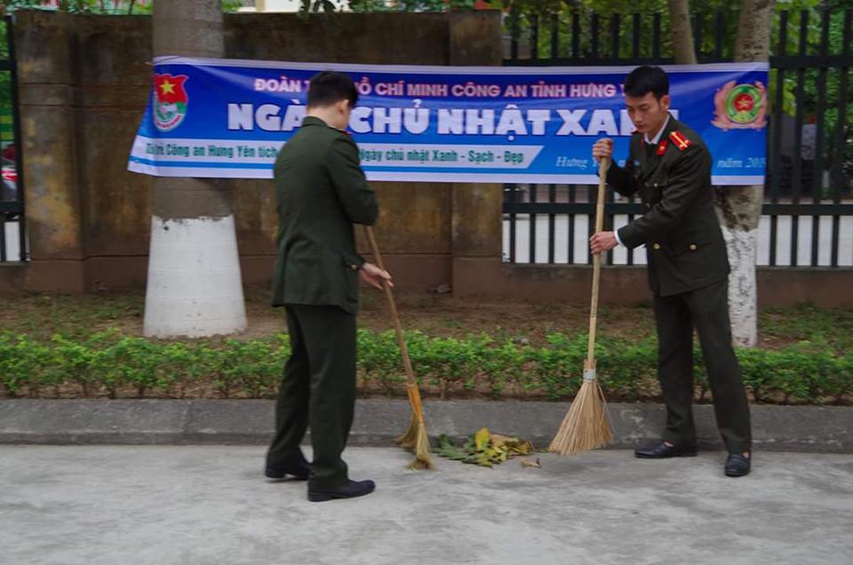 Tuổi trẻ Hưng Yên đồng loạt ra quân Ngày chủ nhật xanh  Hưởng ứng Chiến dịch làm cho Thế giới sạch hơn năm 2019