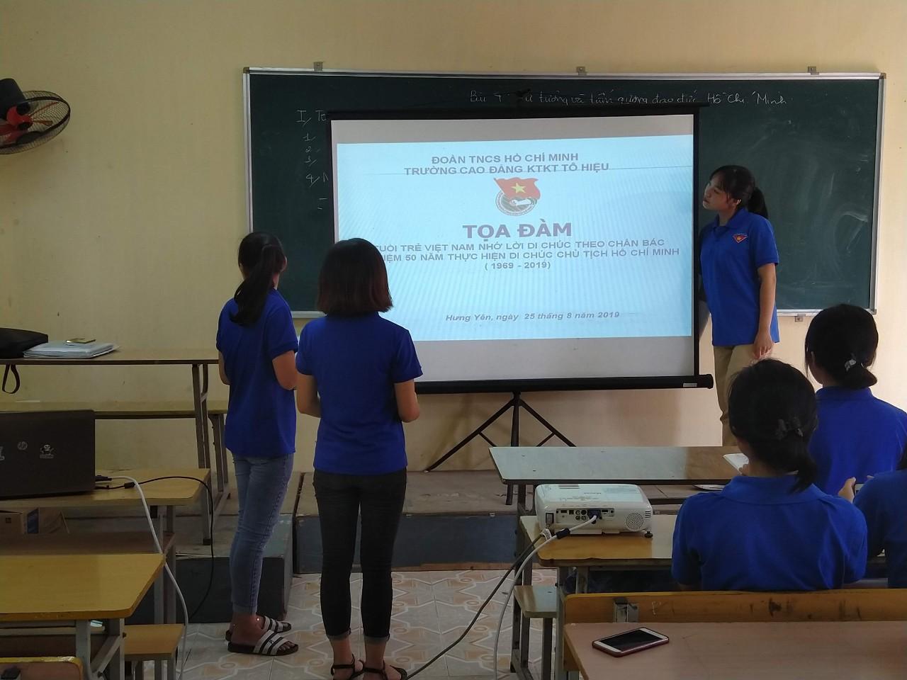 Đoàn trường Cao đẳng Kinh tế kỹ thuật Tô Hiệu tổ chức hội nghị tuyên truyền tác hại rượu bia, thuốc lá, chất kích thích cho cán bộ đoàn và đoàn viên thanh niên