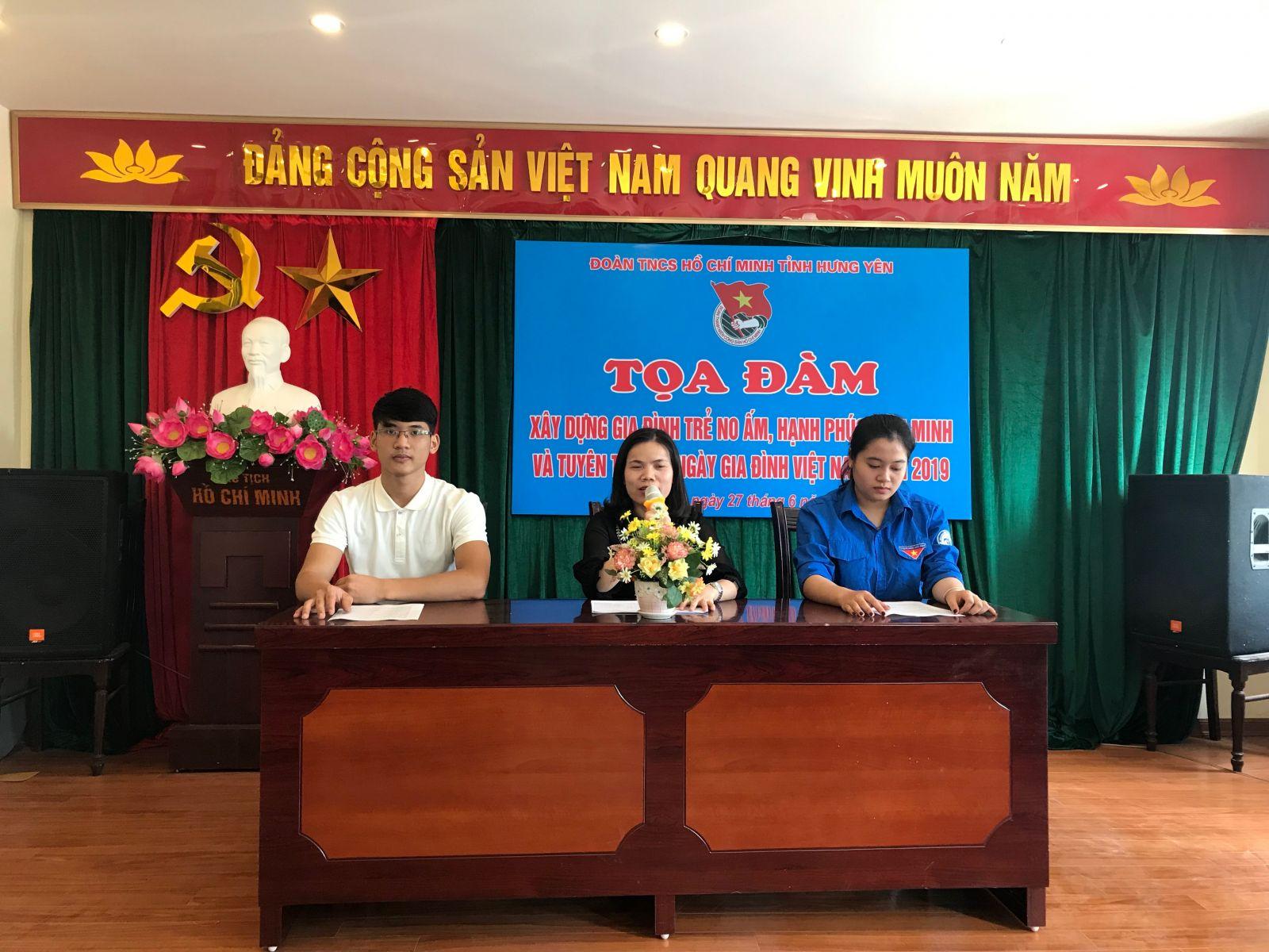 """Tọa đàm """"Xây dựng gia đình trẻ no ấm, tiến bộ, hạnh phúc, văn minh"""" hưởng ứng Ngày gia đình Việt Nam 28/6."""