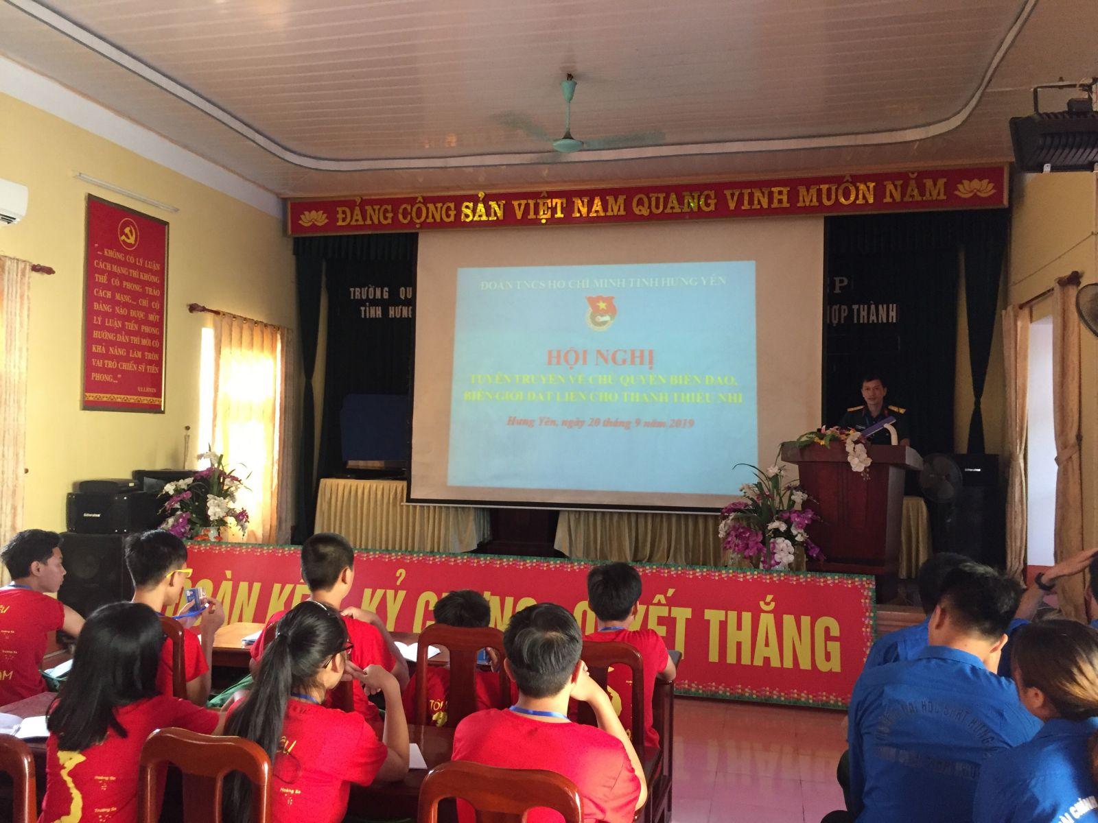 Tỉnh đoàn tổ chức tuyên truyền về chủ quyền biển đảo, biên giới đất liền cho thanh thiếu nhi năm 2019