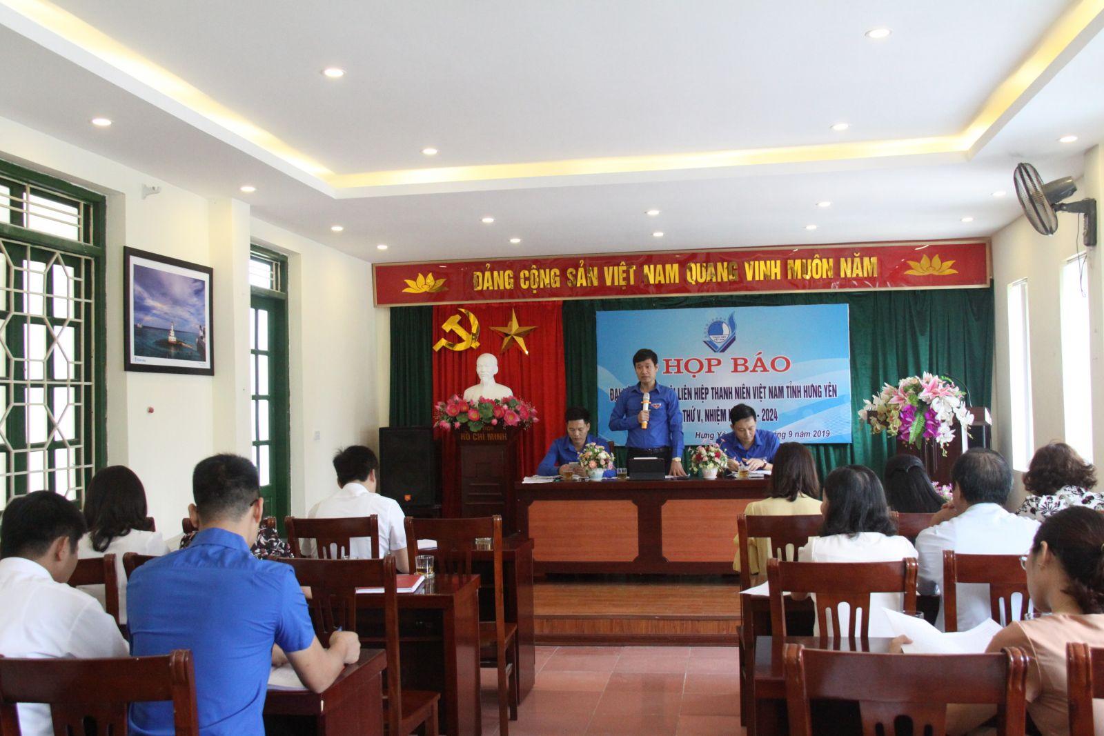 Họp báo tuyên truyền về Đại hội Đại biểu Hội LHTN Việt Nam tỉnh lần thứ V, nhiệm kỳ 2019 - 2024