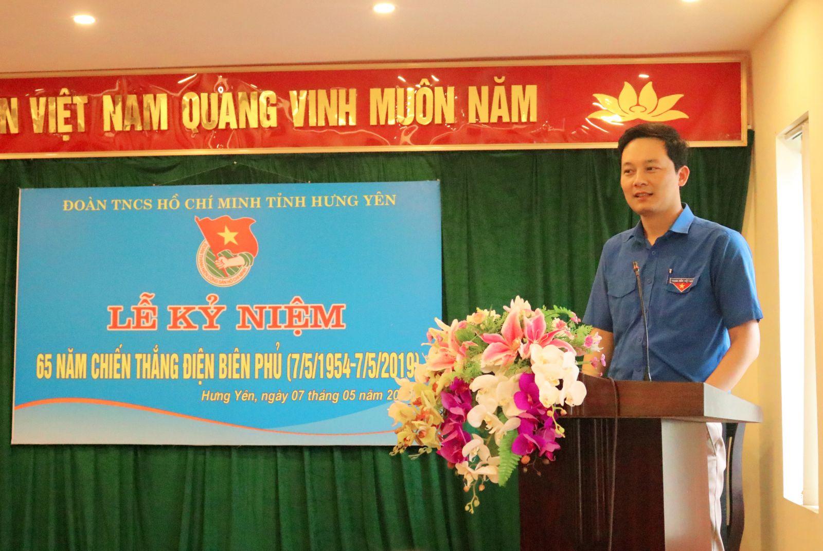 Ban Thường vụ Tỉnh đoàn tổ chức kỷ niệm 65 năm chiến thắng Điện Biên phủ (7/5/1954 – 7/5/2019)