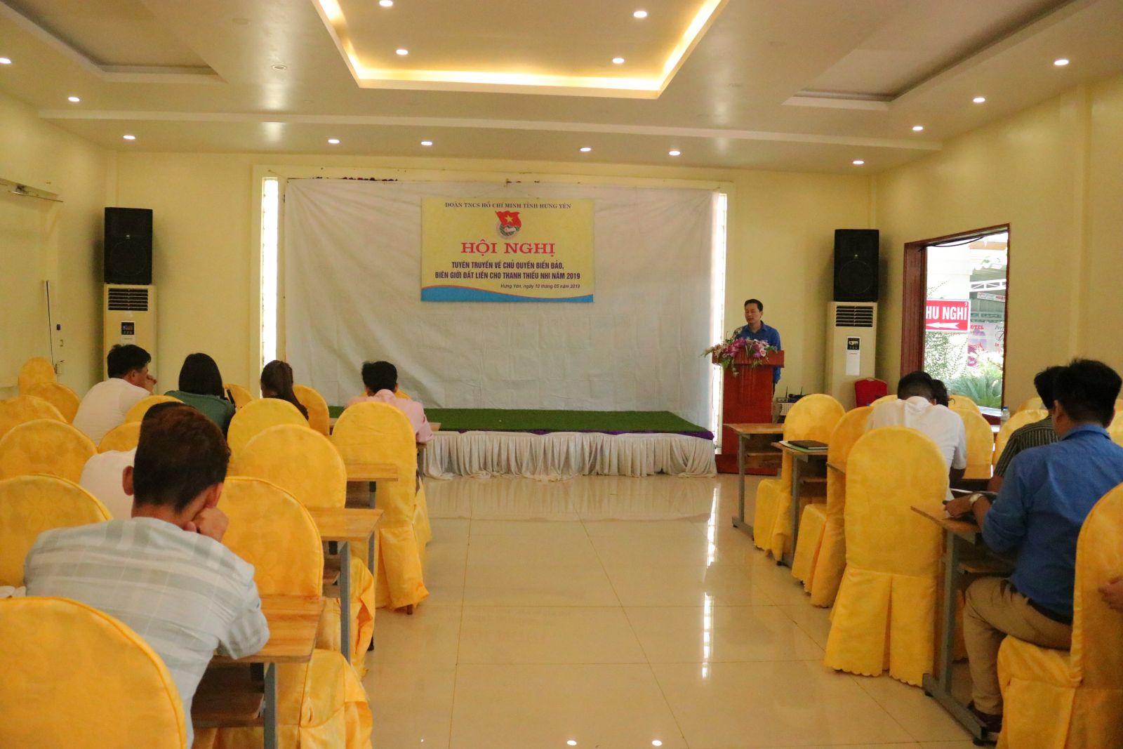 Tỉnh đoàn tổ chức Hội nghị tuyên truyền về chủ quyền biển đảo, biên giới đất liền cho thanh thiếu nhi năm 2019