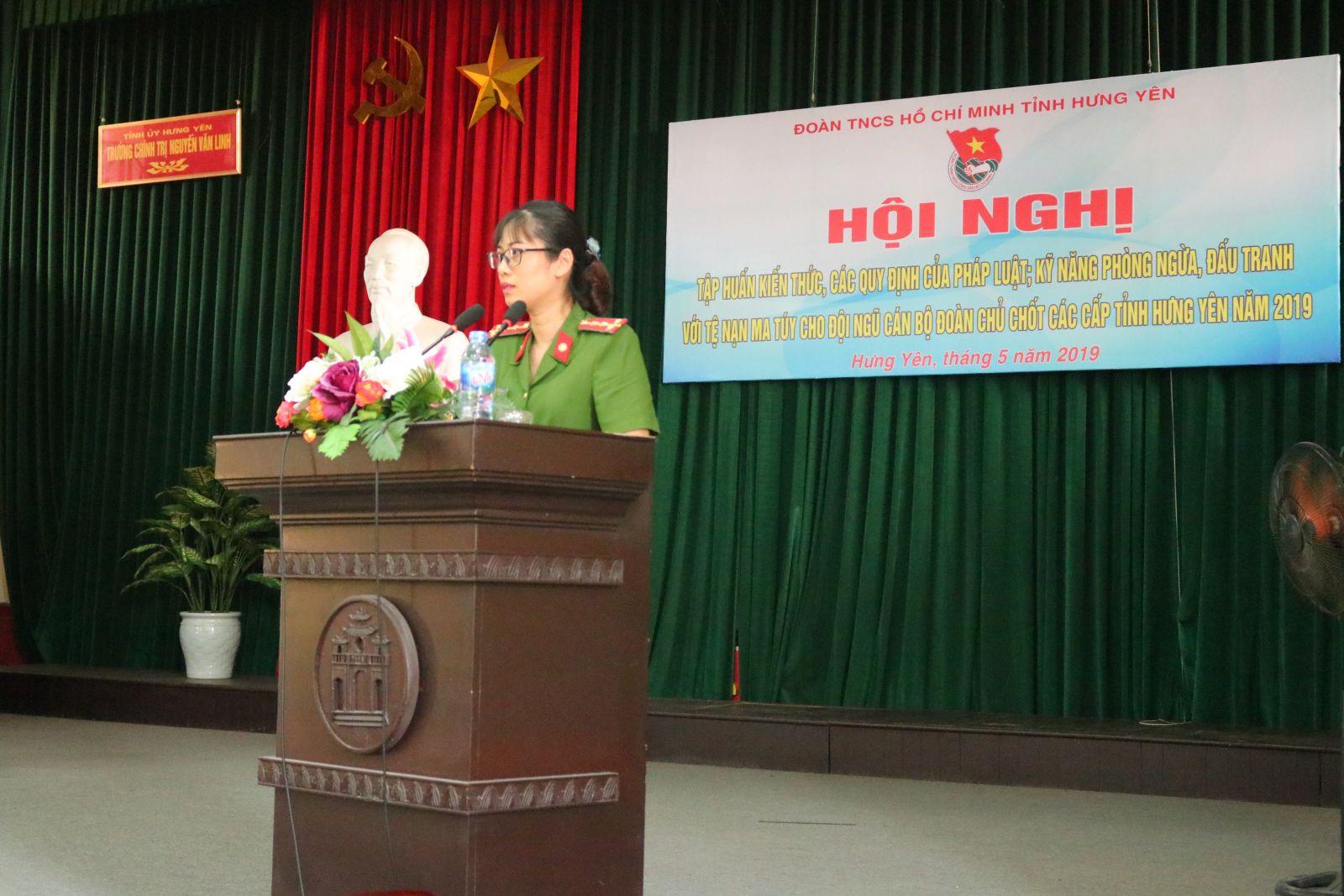 Hội nghị tập huấn kiến thức, các quy định của pháp luật; kỹ năng phòng ngừa đấu tranh với tệ nạn ma túy tỉnh Hưng Yên năm 2019