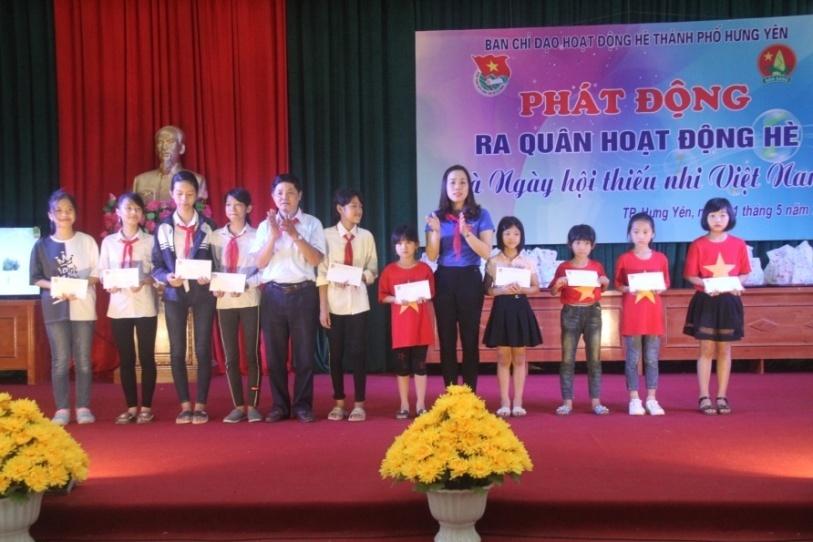 Thành đoàn Hưng Yên tổ chức Phát động ra quân hoạt động hè và Ngày hội thiếu nhi Việt Nam năm 2019