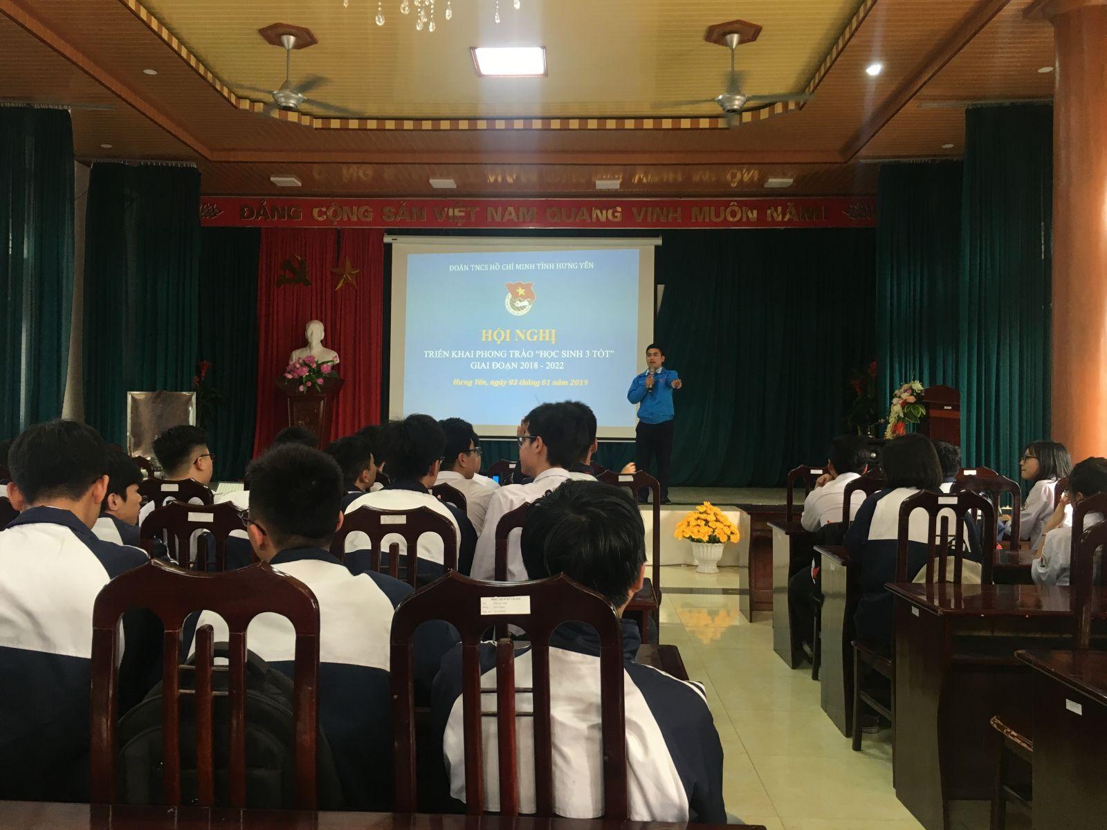 """Tỉnh đoàn Hưng Yên tổ chức Hội nghị triển khai phong trào """"Học sinh 3 tốt"""""""