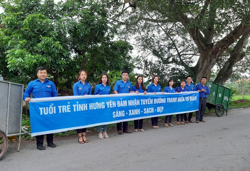 Ra mắt Tổ hợp tác thanh niên bảo vệ môi trường và đoạn đường Thanh niên tự quản Sáng - Xanh - Sạch - Đẹp tại xã Hưng Đạo