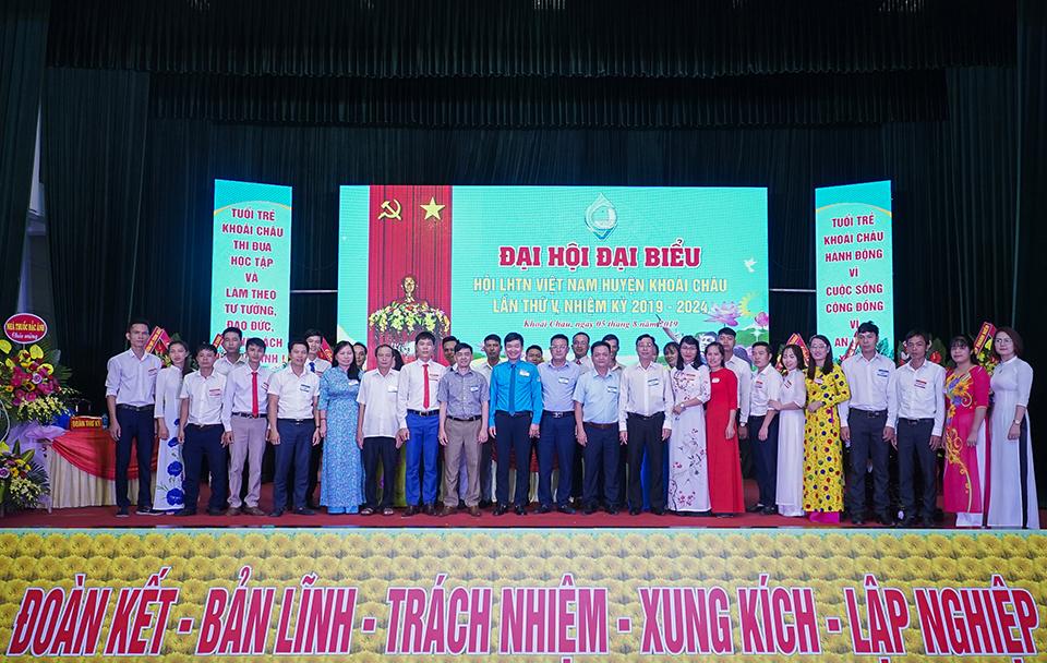 Đại hội đại biểu Hội Liên hiệp thanh niên Việt Nam huyện Khoái Châu  lần thứ V, nhiệm kỳ 2019 - 2024 với khẩu hiệu Đoàn kết - Bản lĩnh - Trách nhiệm - Xung kích - Lập nghiệp