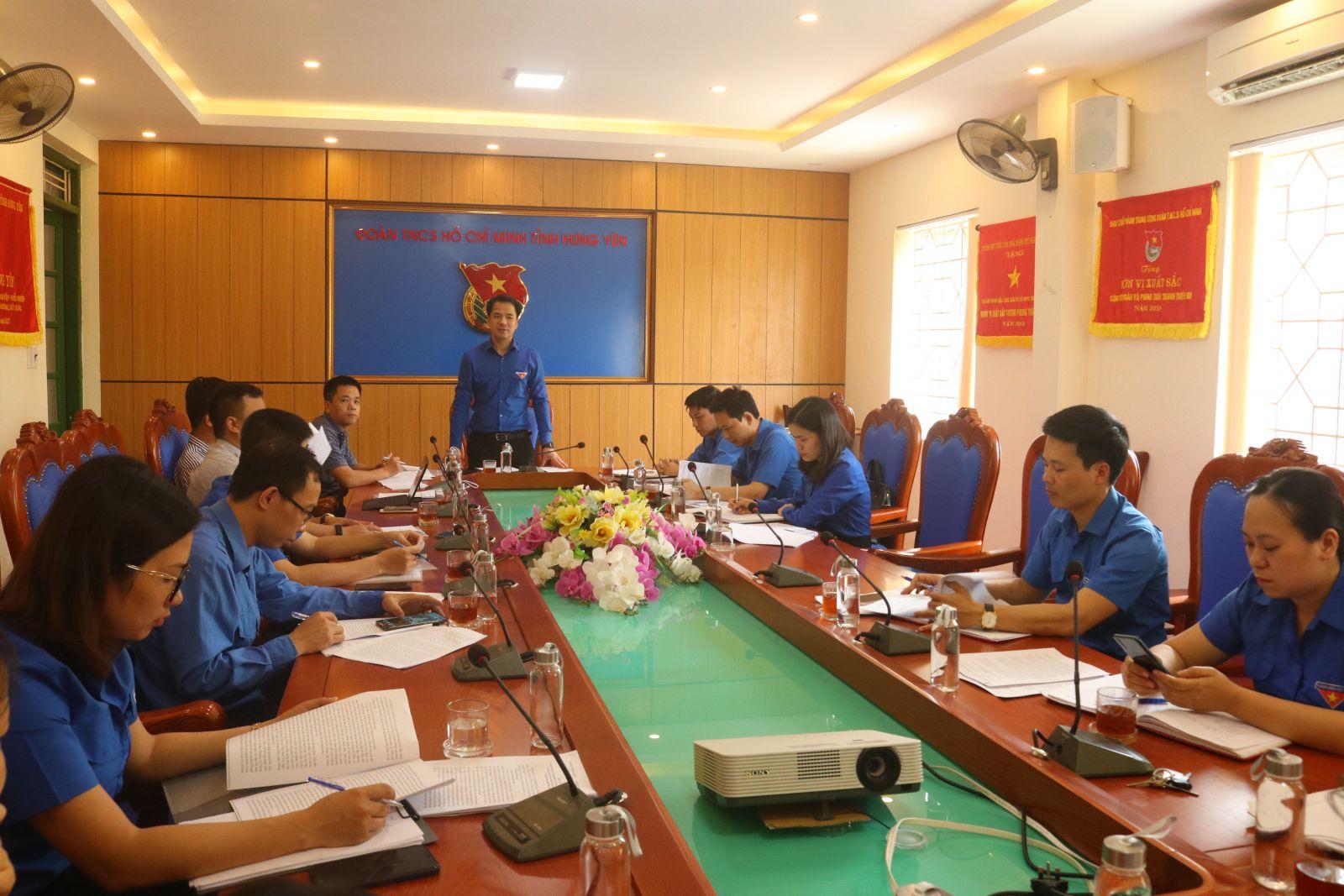 Ban Thường vụ Tỉnh đoàn tiếp đoàn kiểm tra giám sát chuyên đề và  giám sát Ủy viên Ban Chấp hành Trung ương Đoàn năm 2020