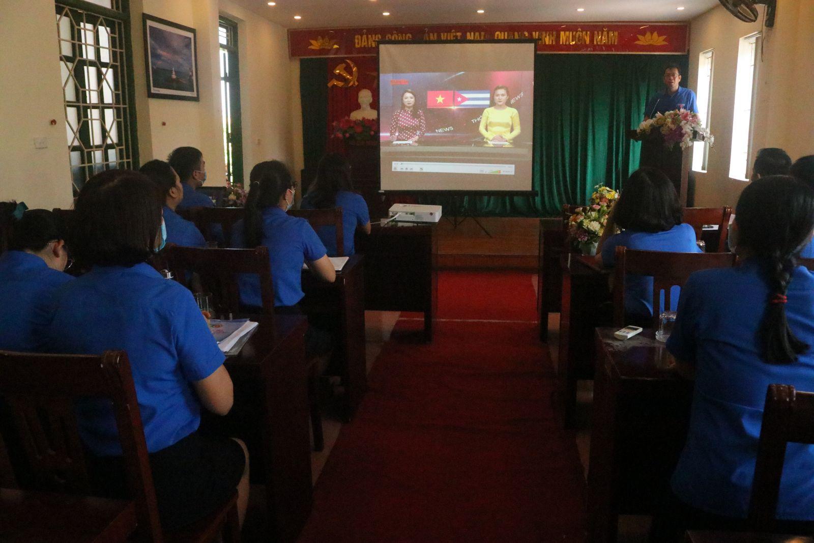 Tỉnh đoàn tổ chức hội nghị tuyên truyền kỷ niệm 60 năm  thiết lập quan hệ giữa 2 nước Việt Nam – Cu Ba và kỷ niệm 75 năm  thành lập ngành ngoại giao Việt Nam (28/8/1945 – 28/8/2020)