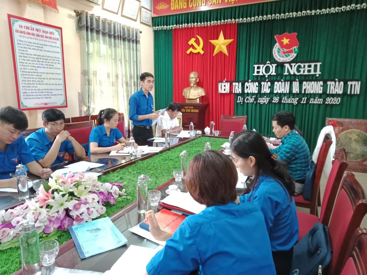 Tỉnh đoàn kiểm tra công tác Đoàn, phong trào thanh thiếu nhi năm 2020