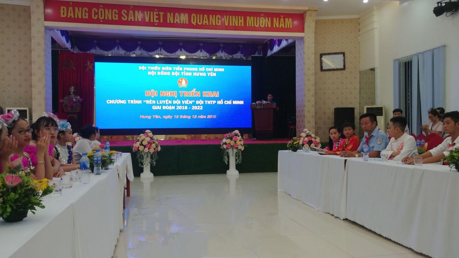 Hội đồng Đội tỉnh Hưng Yên tổ chức Hội nghị triển khai  Chương trình Rèn luyện đội viên giai đoạn 2018 – 2022