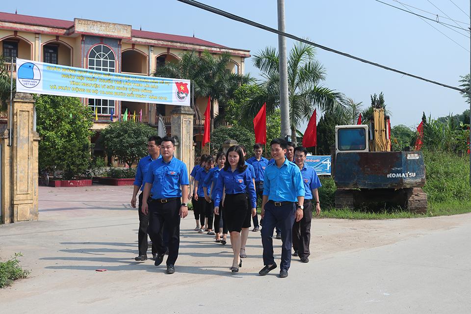 """Hội Liên hiệp thanh niên Việt Nam tỉnh, Ban Thường vụ Tỉnh đoàn tổ chức Chương trình """"Ngày hội Thầy thuốc trẻ làm theo lời Bác tình nguyện vì sức khỏe cộng đồng và phát động đi bộ 10.000 bước chân mỗi ngày năm 2019"""""""